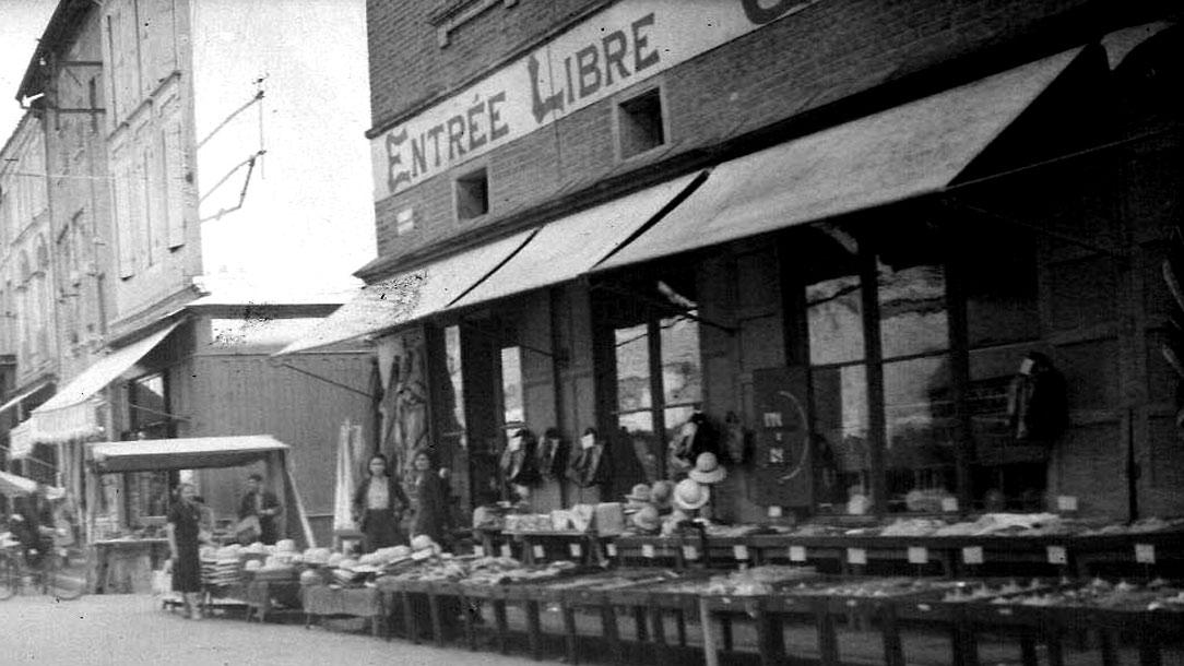 Photo d'un magasin des années 1930